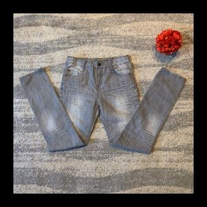 Zara Kids Gray Distressed Denim Jeans 13/14